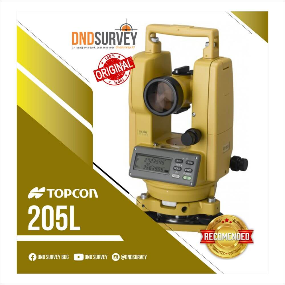 Digital Theodolite TOPCON DT 205L Second Original Garansi