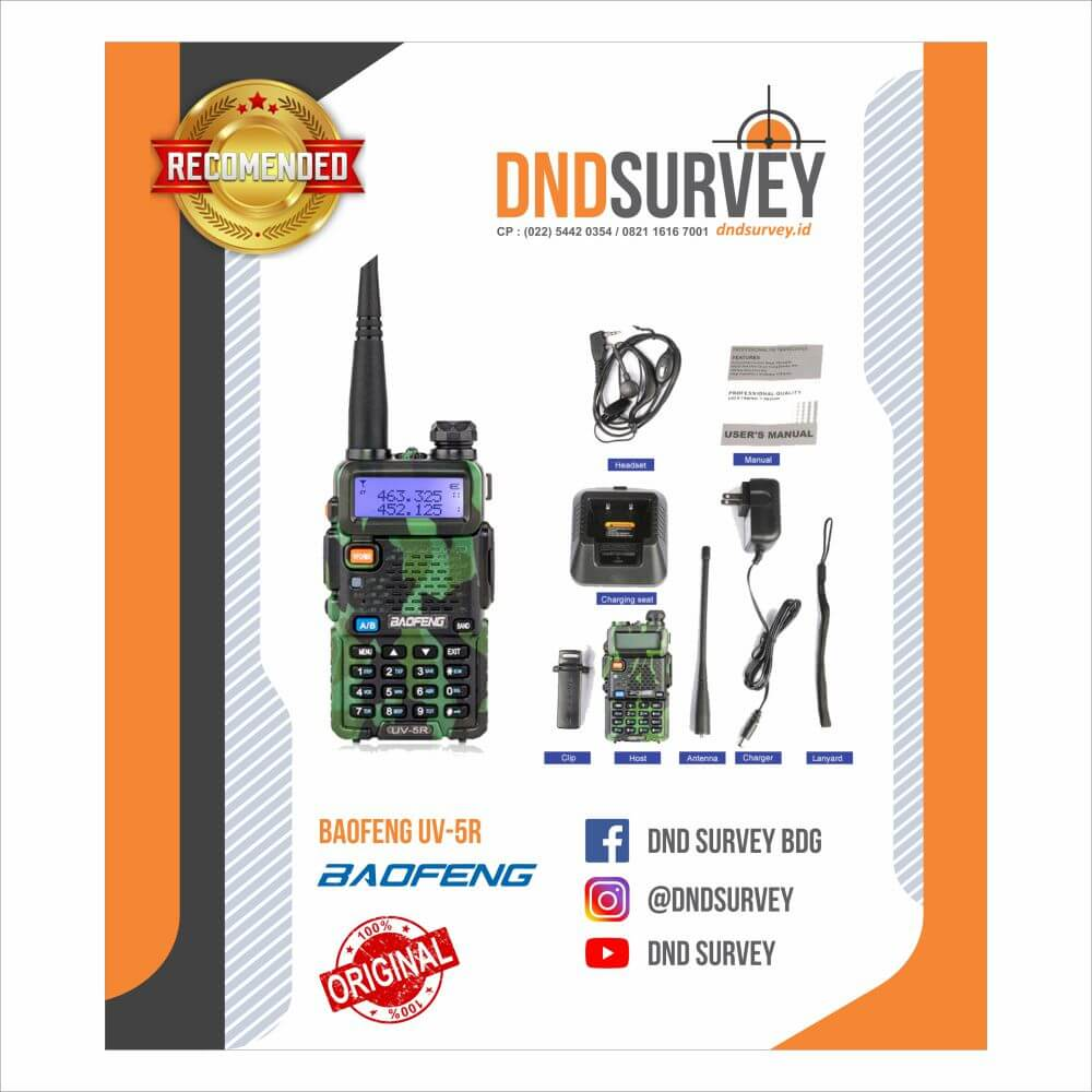 HT Walkie Talkie Baofeng UV 5R